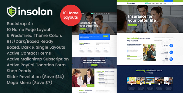 [Free Download] Insolan – Insurance Agency HTML Template (Nulled) [Latest Version]