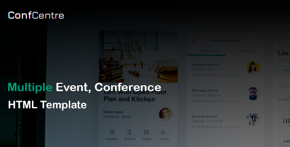 [Free Download] ConfCentre – Business & Events Landing Page HTML Template (Nulled) [Latest Version]