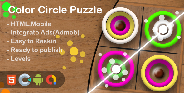 [Free Download] Color Circle Puzzle(Html5 + Construct 3 +Mobile) (Nulled) [Latest Version]