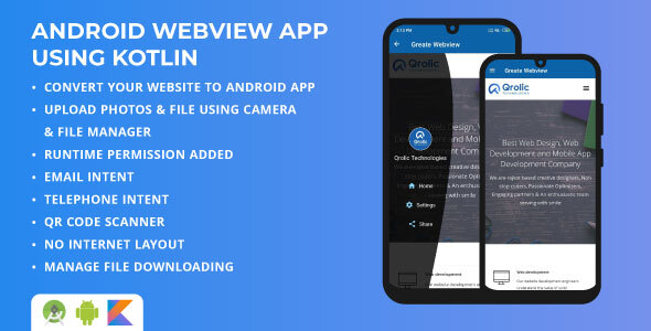[Free Download] Android Webview App using Kotlin | Web URL To Android App Converter | Android Webview Template (Nulled) [Latest Version]