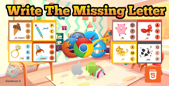 [Free Download] Write The Missing Letter for Kids – Educational Game – (.Capx) (Nulled) [Latest Version]