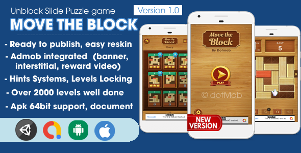 [Free Download] Move The Block – Unblock Game Unity Complete (Nulled) [Latest Version]