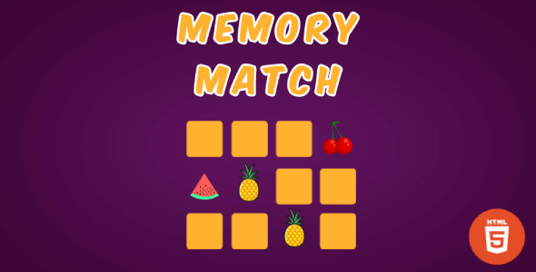 [Free Download] Memory Match – HTML5 Matching Game (Nulled) [Latest Version]
