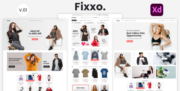 [Free Download] Fixxo – eCommerce XD Template (Nulled) [Latest Version]