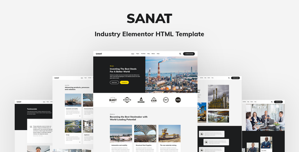 [Free Download] Sanat – Industry Elementor HTML Template (Nulled) [Latest Version]