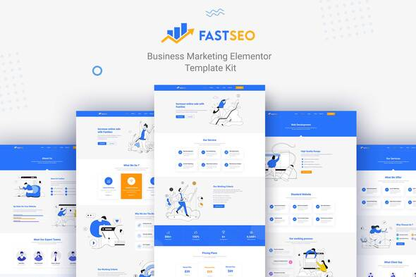 [Free Download] FastSEO – Business Marketing Elementor Template Kit (Nulled) [Latest Version]