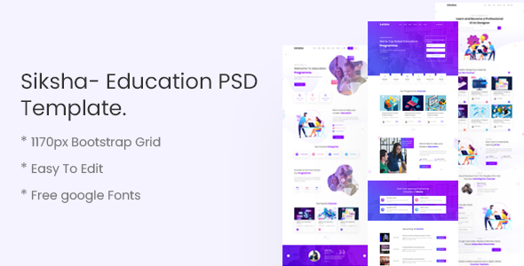 [Free Download] Siksha- Education PSD Template (Nulled) [Latest Version]