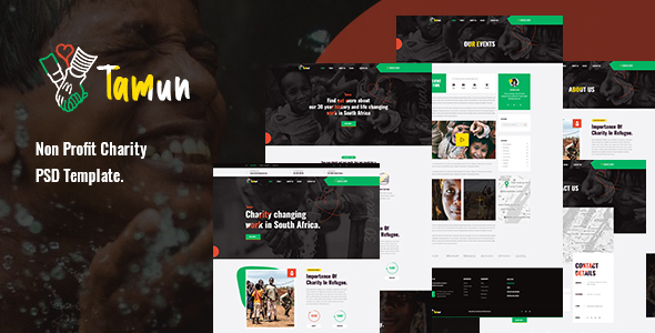 [Free Download] Tamun – Non Profit Charity PSD Template (Nulled) [Latest Version]