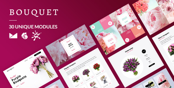 [Free Download] Bouquet Email-Template + Online Builder (Nulled) [Latest Version]
