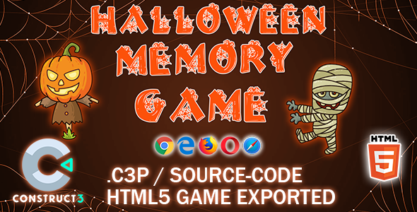 [Free Download] Halloween Memory HTML5 Game – Construct 3 All Source-code (Nulled) [Latest Version]