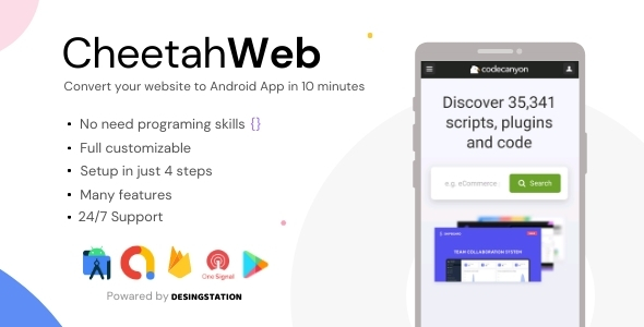 [Free Download] CheetahWeb | Convert your Website to Android App in 10 Minutes | Admin Panel (Nulled) [Latest Version]