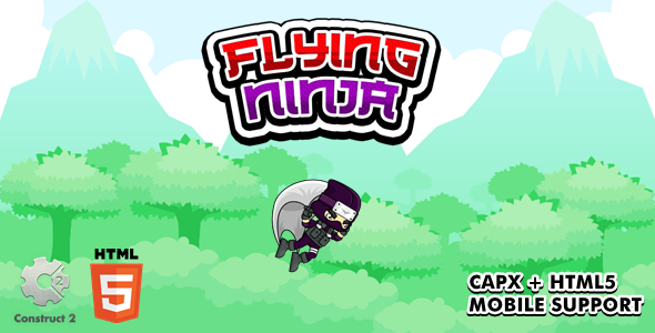 [Free Download] Flying Ninja – Construct 2 Game (Nulled) [Latest Version]