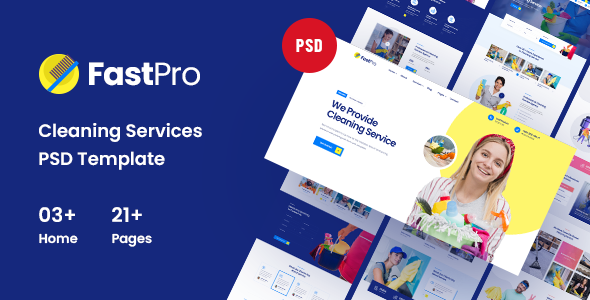 [Free Download] FastPro – Cleaning Services PSD Template (Nulled) [Latest Version]