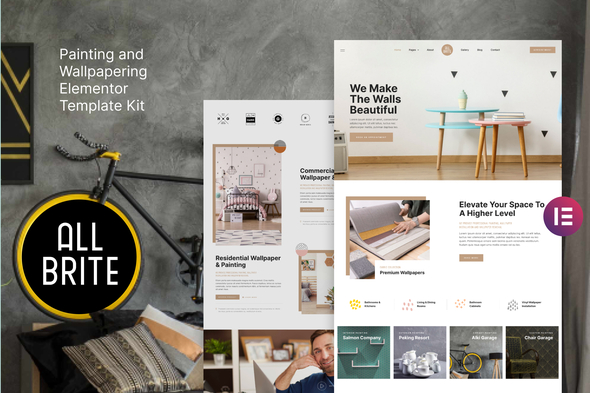 [Free Download] Allbrite – Painting & Wallpapering Elementor Template Kit (Nulled) [Latest Version]