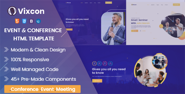 [Free Download] Vixcon – Event & Conference Management HTML Template (Nulled) [Latest Version]
