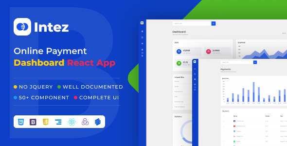[Free Download] Intez – Payment Dashboard React App (Nulled) [Latest Version]