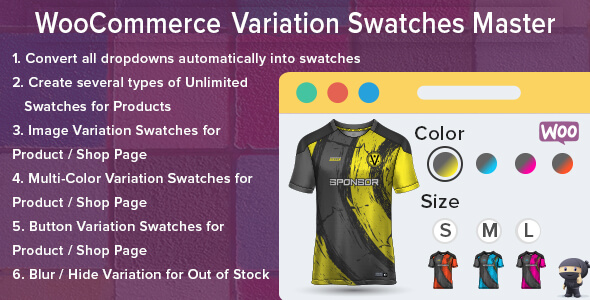 [Free Download] WooCommerce Variation Swatches Master (Nulled) [Latest Version]