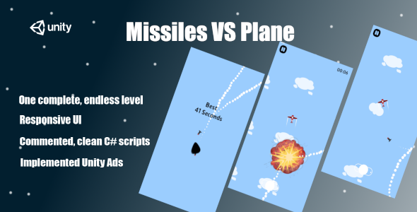 [Free Download] Missiles VS Plane – Complete Unity Game (Nulled) [Latest Version]