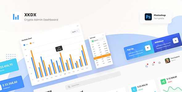 [Free Download] XKDX – Clean Crypto Admin Dashboard Template PSD (Nulled) [Latest Version]