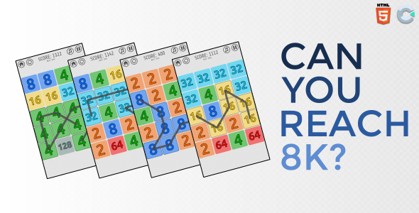 [Free Download] Can you reach 8K – HTML5 Casual game (Nulled) [Latest Version]
