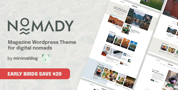 [Free Download] Nomady – Magazine Theme for Digital Nomads (Nulled) [Latest Version]