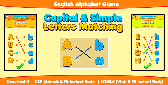 [Free Download] Capital & Simple Letters Matching (Construct 3 | C3P | HTML5) Admob and FB Instant Ready (Nulled) [Latest Version]