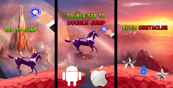 [Free Download] Unicorn Mountain Adventure – Rainbow Pony Jump Complete Unity Game (Nulled) [Latest Version]