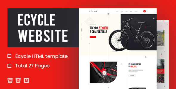[Free Download] ECycle – Creative HTML Template (Nulled) [Latest Version]