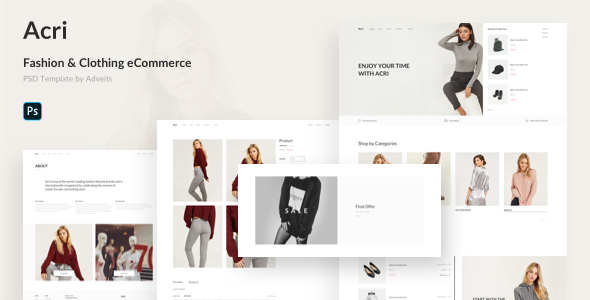 [Free Download] Acri – Fashion & Clothing eCommerce PSD Template (Nulled) [Latest Version]
