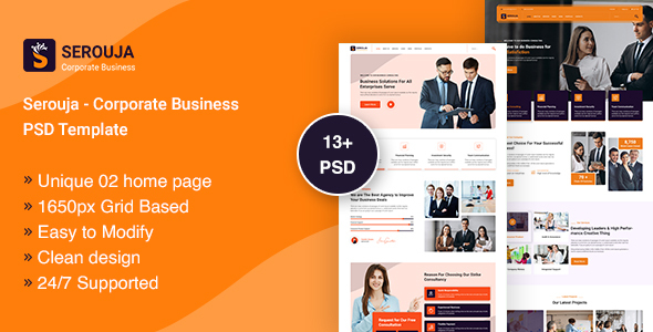 [Free Download] Serouja – Corporate Business PSD Template (Nulled) [Latest Version]