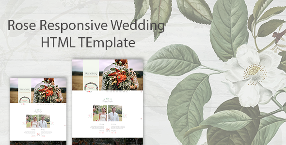 [Free Download] Rose – Responsive Wedding HTML Template (Nulled) [Latest Version]