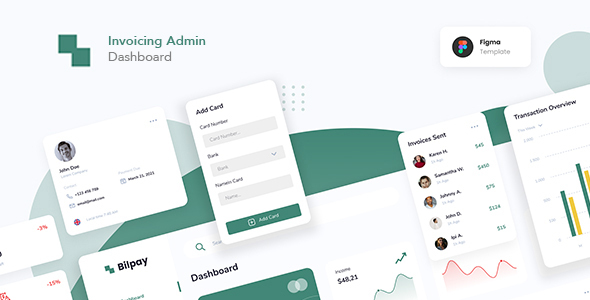 [Free Download] Invoicing Admin Dashboard Figma (Nulled) [Latest Version]