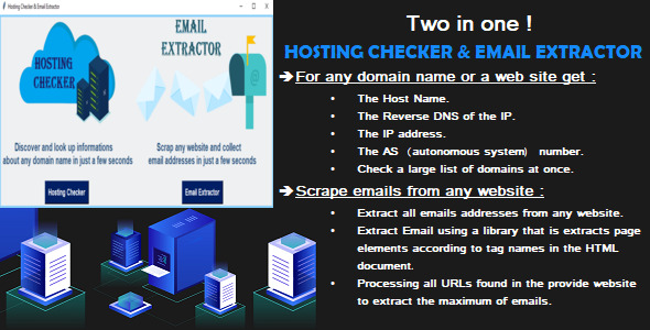 [Free Download] Hosting Checker and Email Extractor (Nulled) [Latest Version]