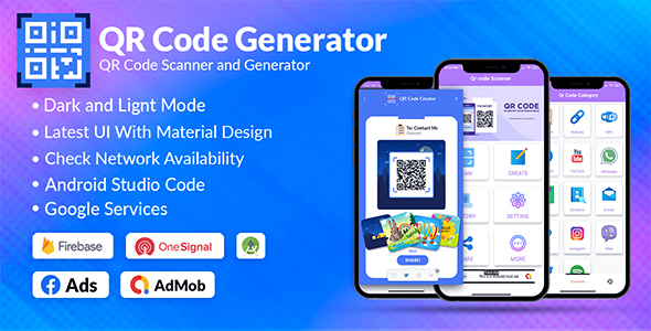 [Free Download] QR Code & Barcode Scanner & Generator Android   Admob, Fb, Startapp (Nulled) [Latest Version]