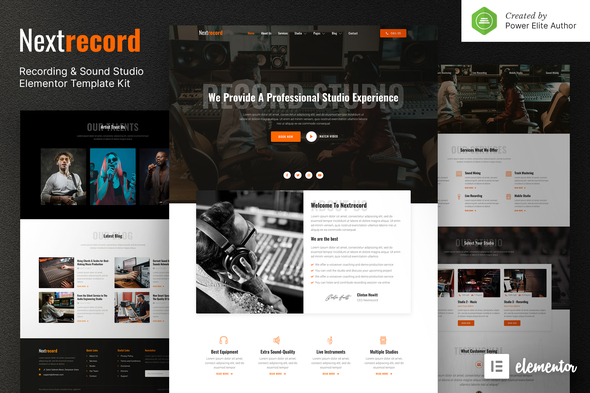 [Free Download] Nextrecord – Recording & Sound Studio Elementor Template Kit (Nulled) [Latest Version]