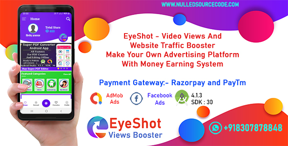 [Free Download] EyeShot – Traffic and Views Booster With Money Earning System (Nulled) [Latest Version]