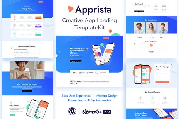 [Free Download] Apprista – Creative App Landing Elementor Template Kit (Nulled) [Latest Version]