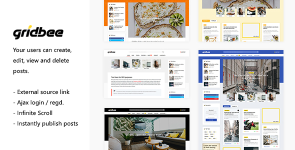 [Free Download] Gridbee – Content Sharing WordPress Theme (Nulled) [Latest Version]