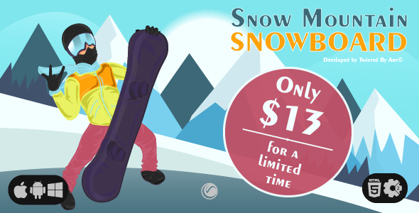 [Free Download] Snow Mountain Snowboard | HTML5 • Construct Game (Nulled) [Latest Version]