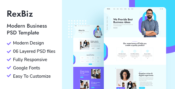 [Free Download] Rexbiz – Corporate PSD Template (Nulled) [Latest Version]