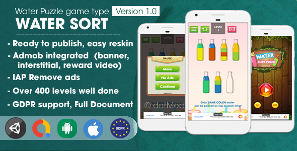 [Free Download] Water Sort Puzzle – Unity Complete Project (Nulled) [Latest Version]