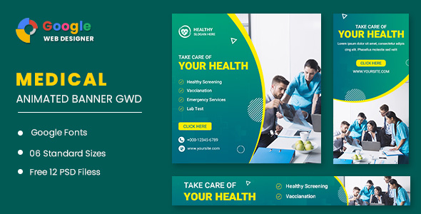 [Free Download] Medical Animated Banner GWD (Nulled) [Latest Version]