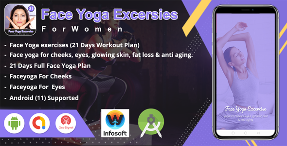 [Free Download] Android Face Yoga Excersies – 21 days (home workout) app (Nulled) [Latest Version]