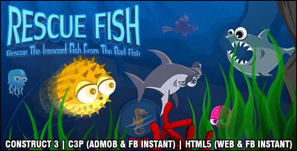 [Free Download] Rescue Fish Game (Construct 3 | C3P | HTML5) Admob and FB Instant Ready (Nulled) [Latest Version]