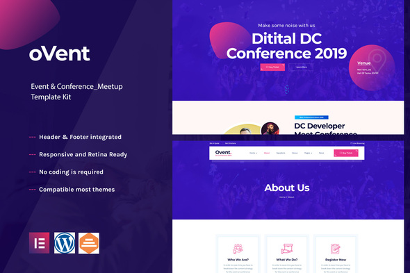 [Free Download] Ovent – Event Conference & Meetup  Elementor Template Kit (Nulled) [Latest Version]
