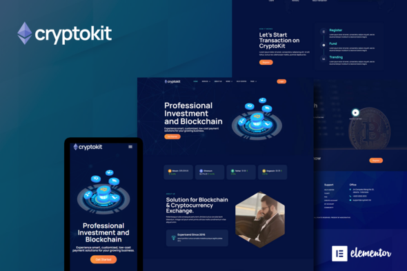 [Free Download] Cryptokit – Blockchain Cryptocurrency Elementor Template Kit (Nulled) [Latest Version]