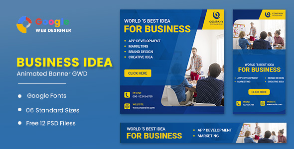 [Free Download] Business Marketing Animated Banner GWD (Nulled) [Latest Version]