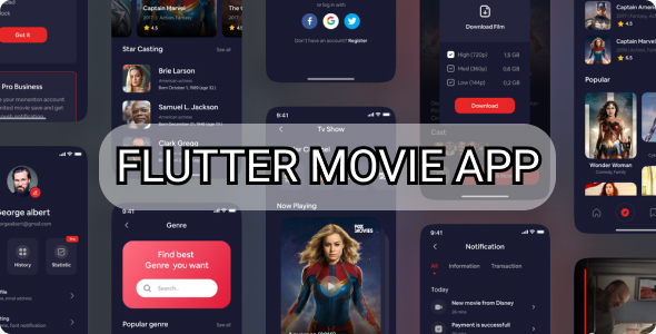 [Free Download] Flutter Complete Movie App – android and ios (Nulled) [Latest Version]