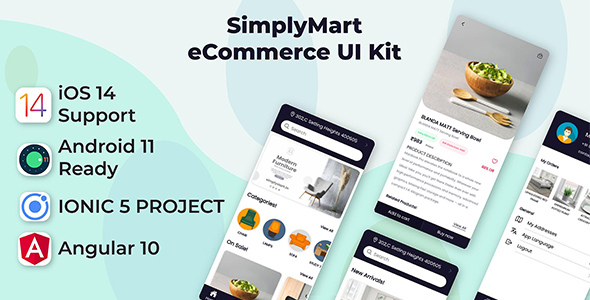 [Free Download] SimplyMart Mobile App Template | Android App + Ecommerce iOS App Template | Angular 10 | Ionic 5 (Nulled) [Latest Version]