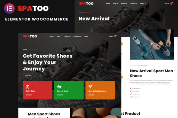 [Free Download] Spatoo – Modern Shoes eCommerce Elementor Template Kit (Nulled) [Latest Version]